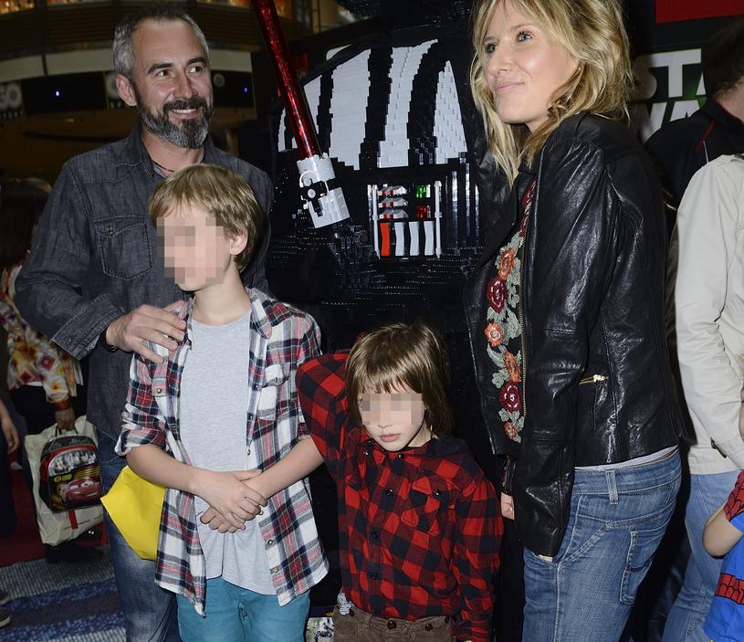 Patrycja Markowska z synem i Jacek Kopczyński ze swoim synem z poprzedniego związku /Andras Szilagyi /MWMedia