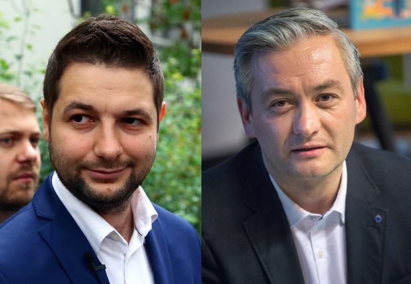 Patryk Jaki (fot. Mariusz Grzelak) i Robert Biedroń (fot. Paweł Wiśniewski) /East News