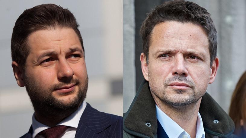 Patryk Jaki i Rafał Trzaskowski /Bartosz Krupa/Stefan Maszewski /Reporter
