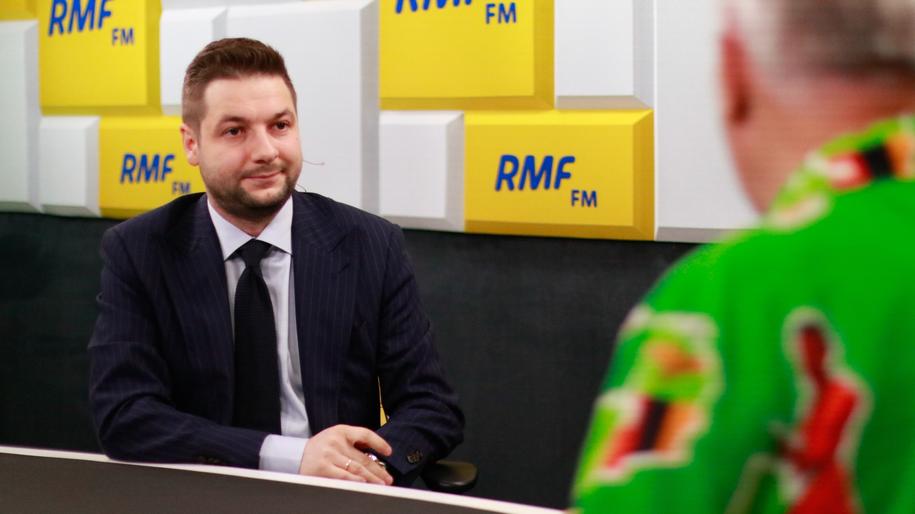 Patryk Jaki w studio RMF FM w Warszawie /Michał Dukaczewski /RMF FM