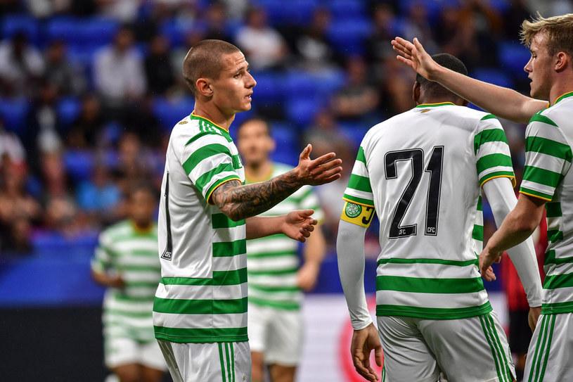 Patryk Klimala w barwach Celticu /JEFF PACHOUD /AFP