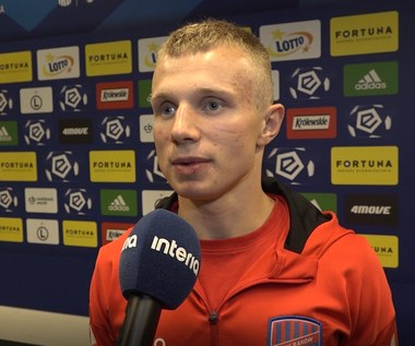 Patryk Kun po meczu Legia - Raków (3-1). Wideo