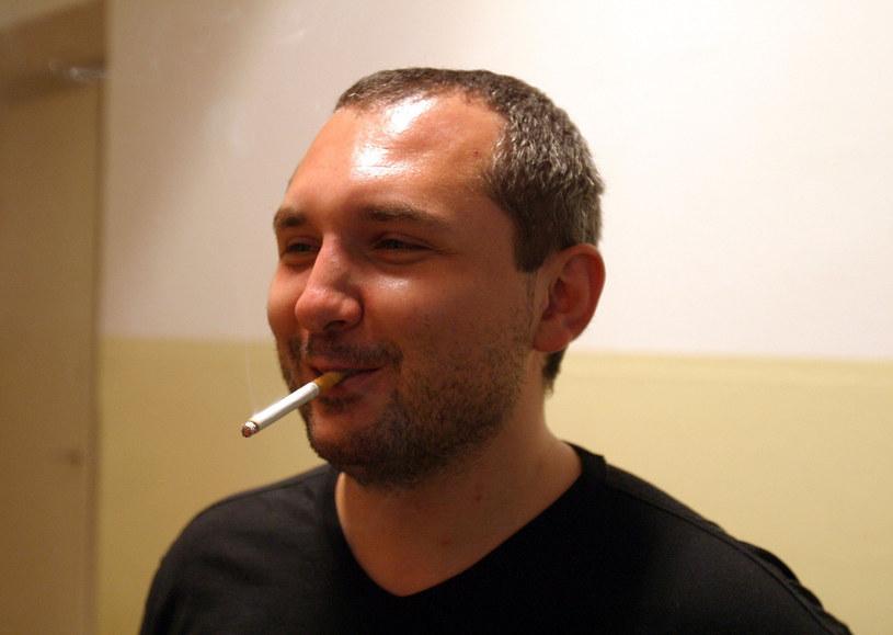 """Patryk Vega na planie """"Pitbulla"""" /Piotr Fotek /Reporter"""