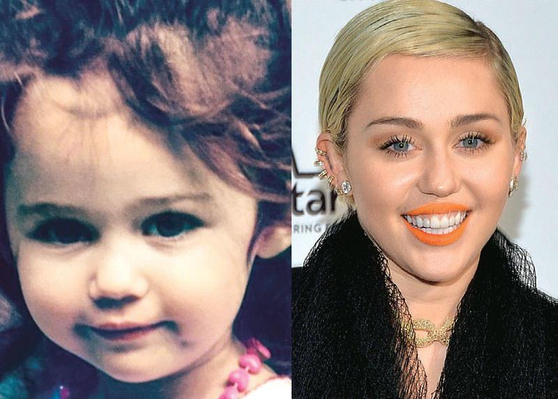 Patrząc na obecne zdjęcia Miley, trudno rozpoznać w niej tę uroczą dziewczynkę z burzą loków /Świat Seriali