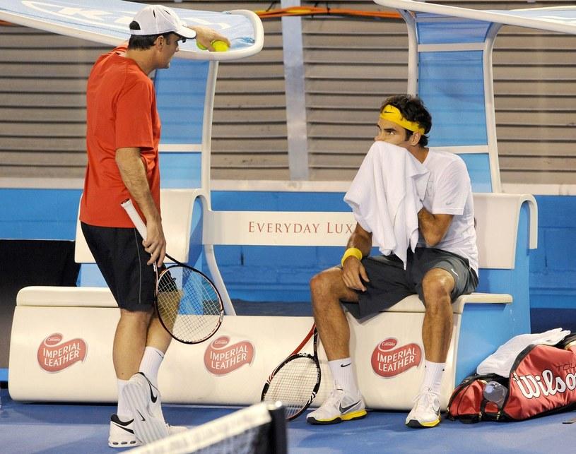 Paul Annacone i Roger Federer /AFP