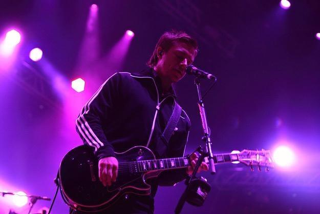 Paul Banks, wokalista Interpol, podczas występu na Coke Live - fot. Adam Flak-Smoliński /INTERIA.PL