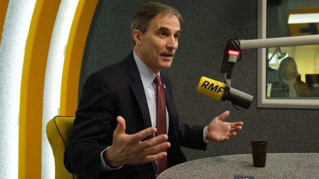 Paul Jones podczas rozmowy z dziennikarzem RMF FM /RMF FM