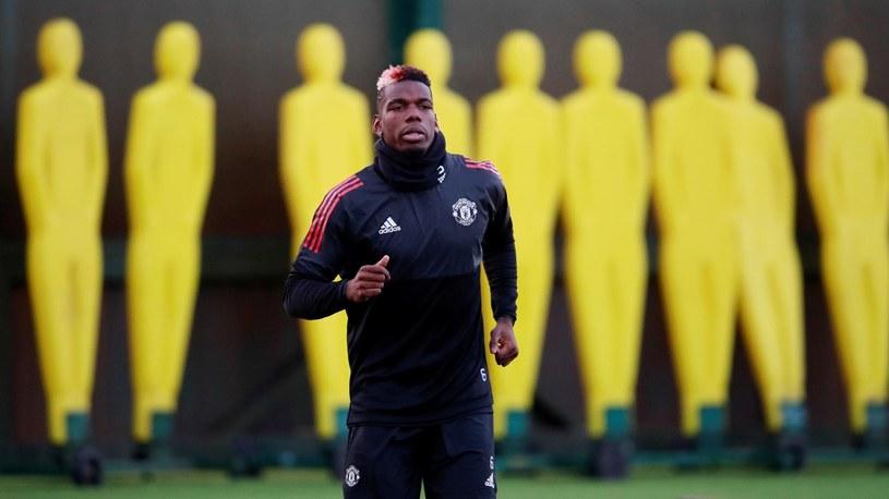 Paul Pogba na treningu. /Reuters
