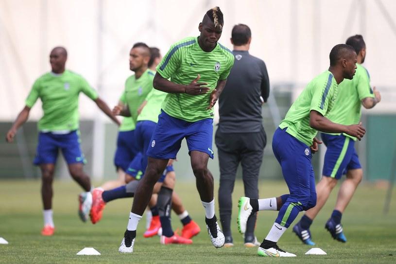 Paul Pogba trenował z Juventusem przed meczem z Realem /AFP