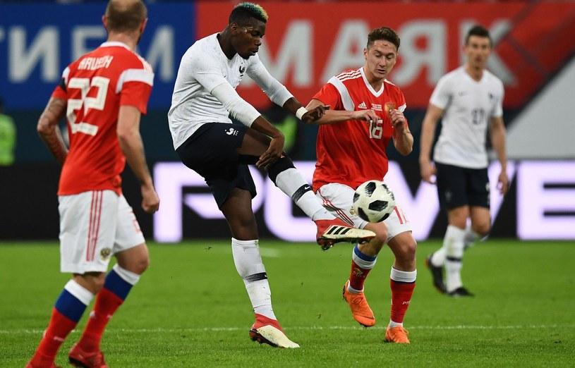 Paul Pogba w meczu z Rosją w St. Petersburgu /AFP