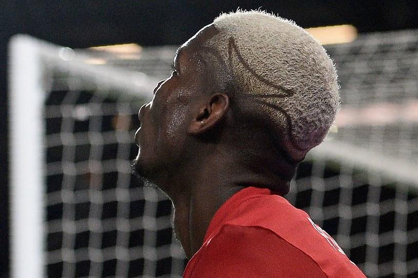 Paul Pogba z jedną ze swych nietypowych fryzur /AFP