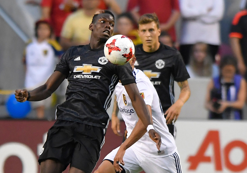 Paul Pogba z Manchesteru United podczas meczu z Realem Salt Lake /AFP