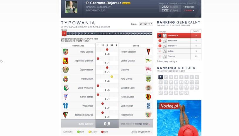 Paulina Czarnota-Bojarska zdobyła tylko 0,5 pkt w 1. kolejce /INTERIA.PL