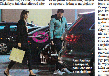 Paulina Krupińska i Sebastian Karpiel-Bułecka /Życie na gorąco