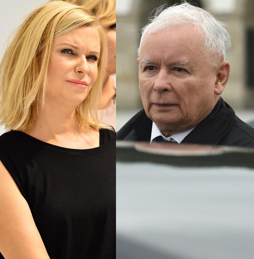 Paulina Młynarska, Jarosław Kaczyński /Adam Chełstowski /Agencja FORUM