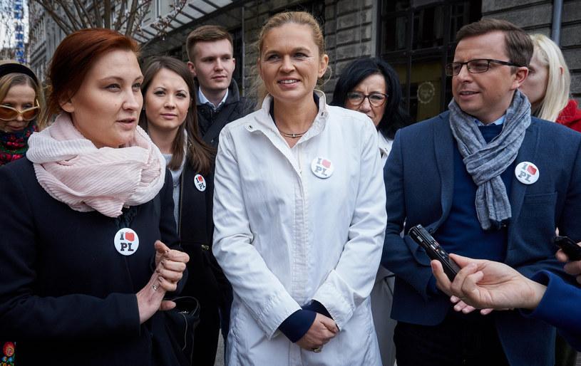 Paulina Piechna-Więckiewicz, Barbara Nowacka i Dariusz Joński na konferencji prasowej Inicjatywy Polskiej /Michal Tulinski /Agencja FORUM