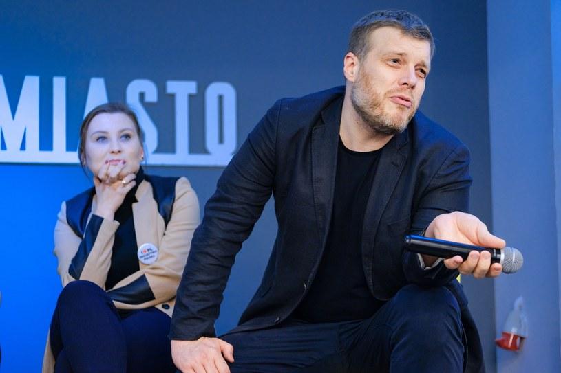 Paulina Piechna-Więckiewicz i Adrian Zandberg /Bartosz Krupa /East News
