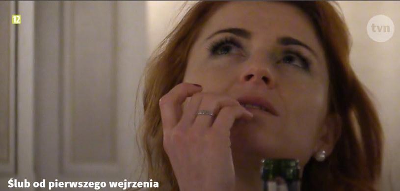 Paulina podczas wesela jej i Krzysztofa /TVN