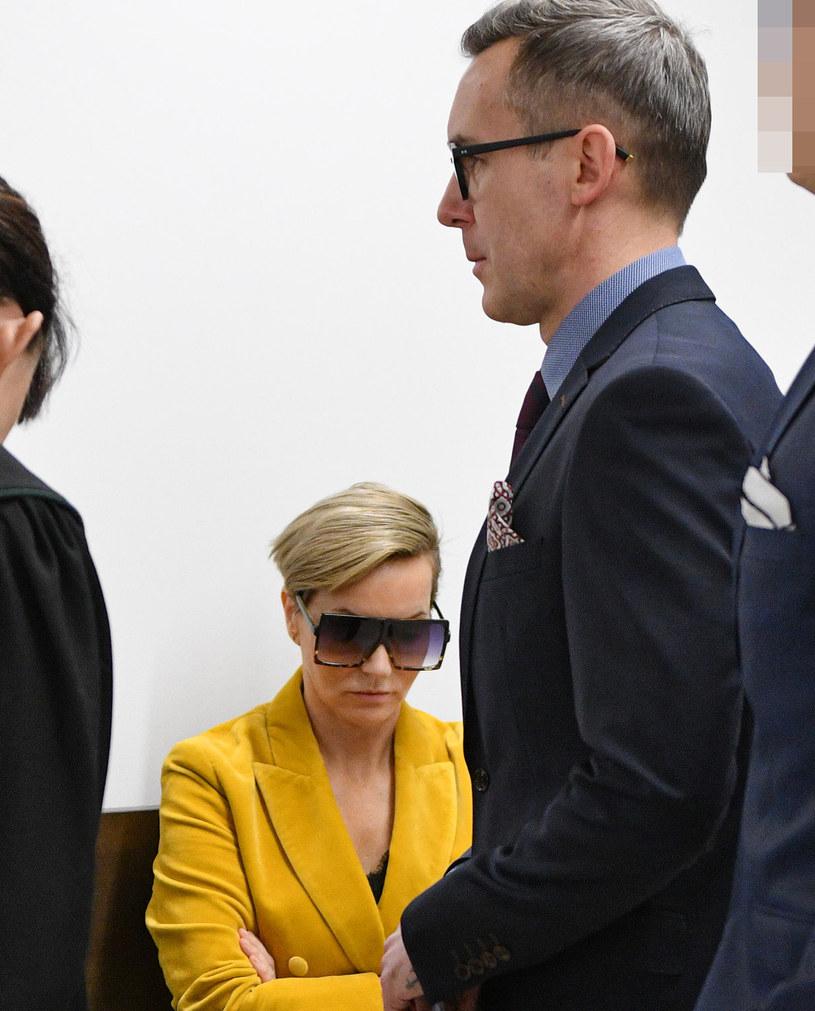Paulina Smaszcz-Kurzajewska i Maciej Kurzajewski w sądzie /pomponik exclusive