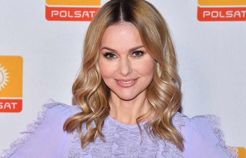 Paulina Sykut-Jeżyna podczas nagrania spotu reklamowego ramówki telewizji Polsat /Mateusz Jagielski /East News