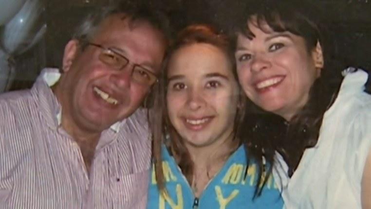 Pauline Volikakis i jej najbliżsi, którzy zginęli w wypadku: mąż Andre i córka Jessie. /