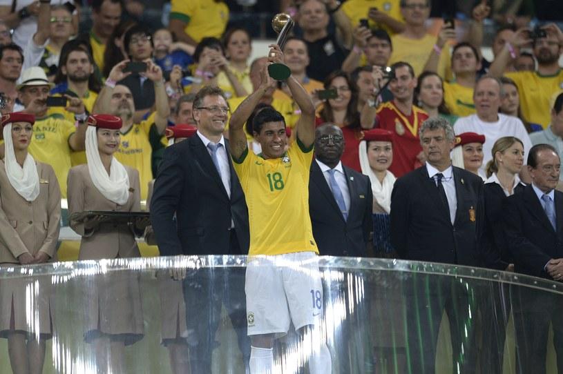 Paulinho z nagrodą dla trzeciego zawodnika Pucharu Konfederacji /AFP