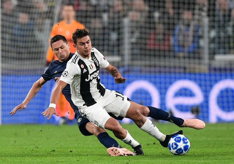 Paulo Dybala podczas meczu Juventus - Manchester United w Lidze Mistrzów /AFP
