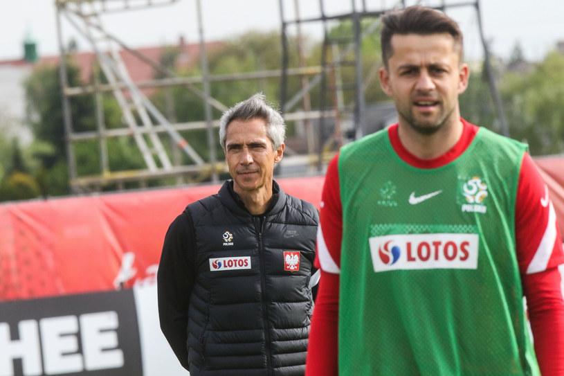 Paulo Sousa i Łukasz Fabiański /Adam Jastrzębowski /Reporter