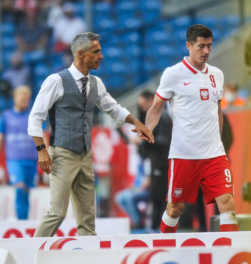 Paulo Sousa i Robert Lewandowski /Adam Jastrzębowski /Reporter