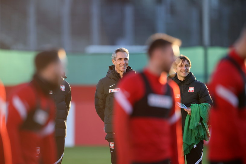 Paulo Sousa na treningu reprezentacji Polski / Leszek Szymański    /PAP