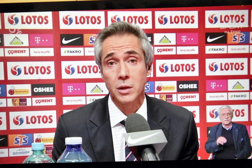 Paulo Sousa podczas pierwszej konferencji prasowej w roli selekcjonera reprezentacji Polski /Piotr Nowak /PAP