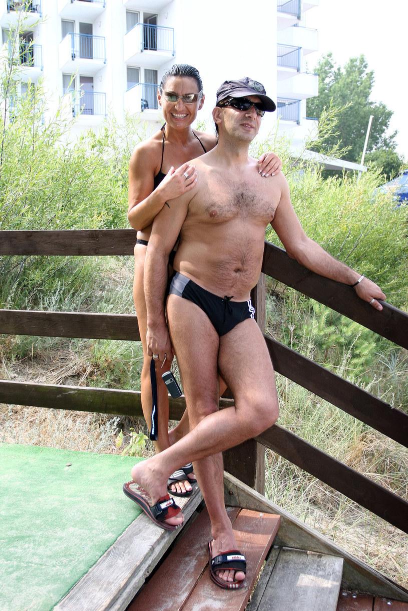 Pavlović z mężem, 2006 rok /AKPA