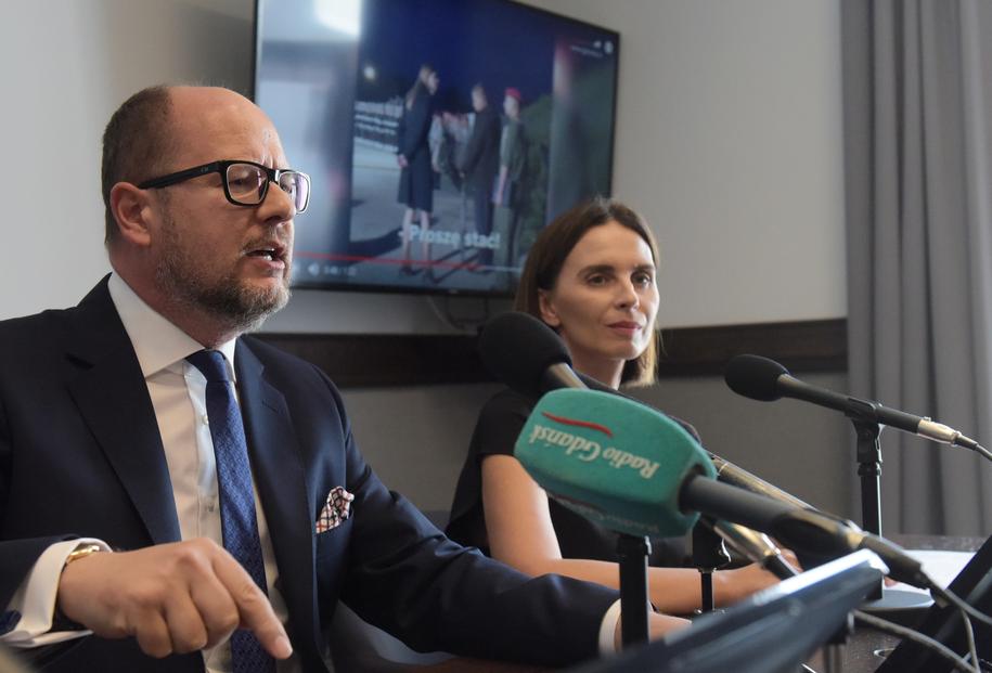 Paweł Adamowicz na konferencji prasowej /Roman Jocher    /PAP