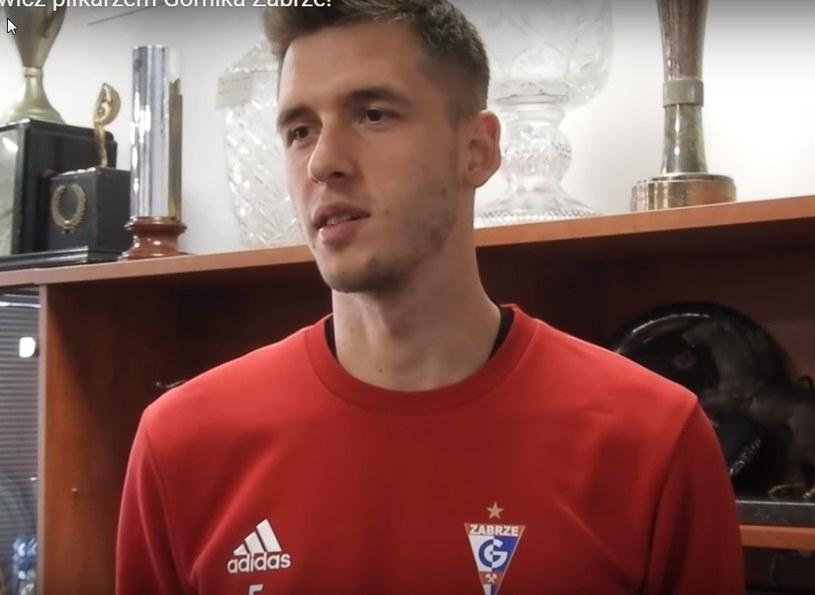 Paweł Bochniewicz z Górnika Zabrze. /