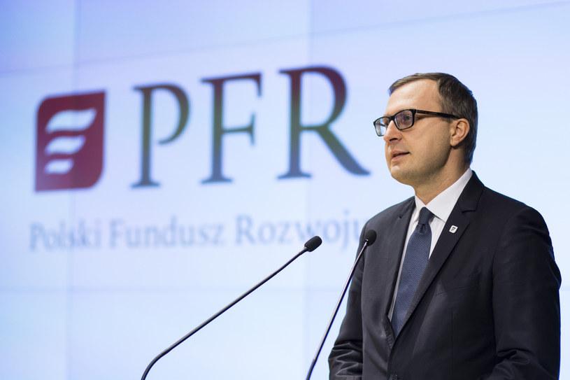 Paweł Borys, prezes PFR /Andrzej Hulimka  /Reporter