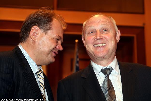 Paweł Brzezicki (L) i Wojciech Jasiński (prezes Orlenu). Fot. Andrzej Iwańczuk /Reporter