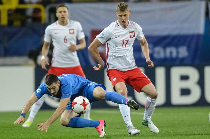 Paweł Dawidowicz (P) w meczu ze Słowacją /Wojciech Pacewicz /PAP