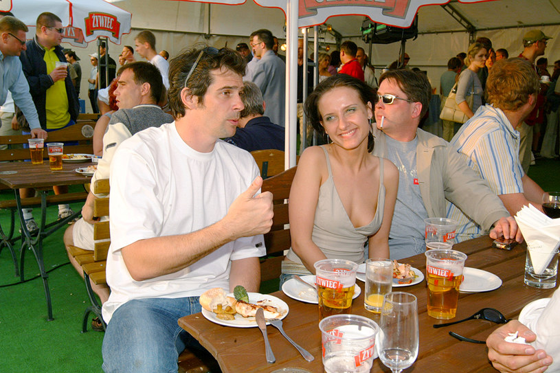 Paweł Deląg i Patrycja Markowska, 2002 rok /Mikulski /AKPA