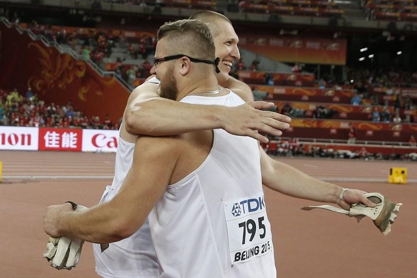 Paweł Fajdek (z prawej) i Wojciech Nowicki /AFP