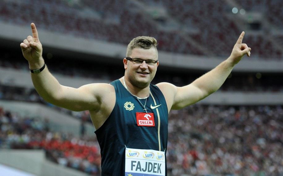 Paweł Fajdek z rekordem Polski 83,48 wygrał konkurs rzutu młotem podczas lekkoatletycznego Memoriału Kamili Skolimowskiej w Warszawie /Bartłomiej Zaborowski /PAP/EPA