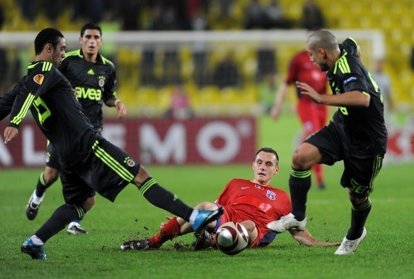 Paweł Golański ze Steauą Bukareszt grał w Lidze Mistrzów /AFP