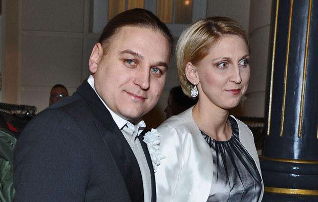 Paweł Golec z żoną Kasią, fot.Andras Szilagyi  /MWMedia