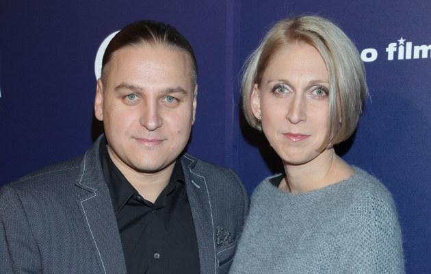 Paweł Golec z żoną /MWMedia