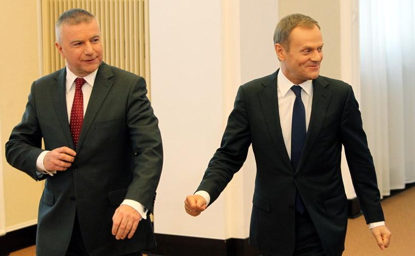 Paweł Graś i Donald Tusk /Radek Pietruszka /PAP