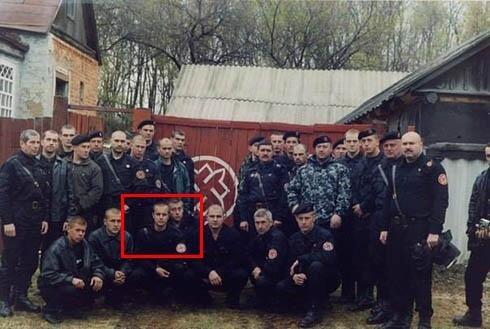 Paweł Gubariew na obozie neonazistowskiej Rosyjskiej Narodowej Jedności, fot. Euro Majdan PR /