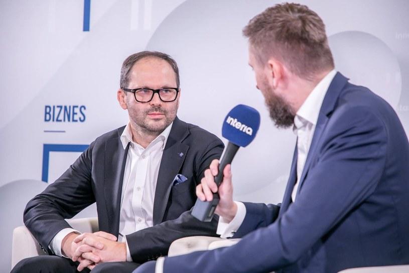 Paweł Kisiel, prezes Grupy Atlas w studiu Interii /Fot. Ireneusz Rek /INTERIA.PL