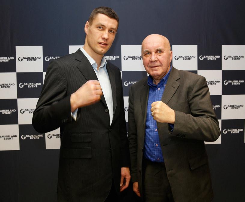 Paweł Kołodziej i promotor Piotr Werner /Getty Images