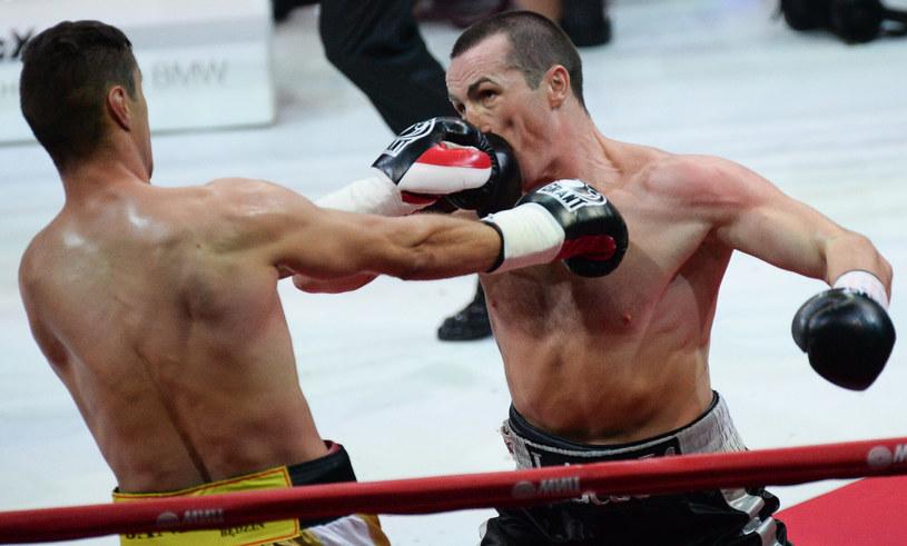 Paweł Kołodziej (z lewej) tu w przegranej walce z Denisem Lebiediewem /Sputnik /East News