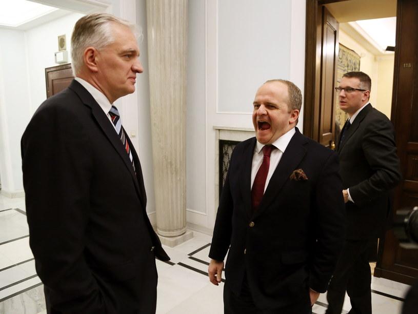 Paweł Kowal, Jarosław Gowin, Przemysław Wipler /Tomasz Gzell /PAP