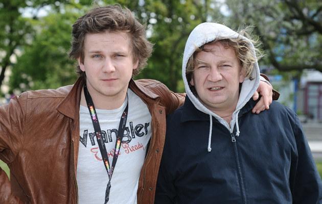 Paweł Królikowski z synem Antkiem, fot.Andras Szilagyi  /MWMedia